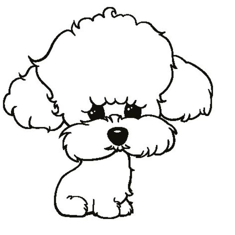 Dibujo De Caniche Pintado Por Perritos En Dibujos Net El